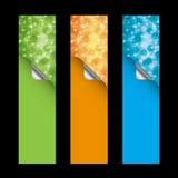 pionowo sztandarów szablony Obraz Royalty Free