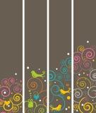 pionowo sztandaru 4 bookmarks Zdjęcia Royalty Free