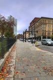 Pionowo uliczna scena w Worcester, Massachusetts zdjęcie royalty free