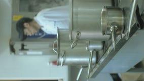 Pionowo wideo Restauracyjna kuchnia, niecki na talerzach, Kulinarny pojęcie zdjęcie wideo