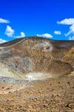 Pionowo widok wulkanu krater na Vulcano wyspie, Sicily Obrazy Stock