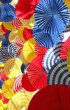 Pionowo wizerunek kolorowa pofałdowana papierowa dekoracja dla tła zdjęcia royalty free
