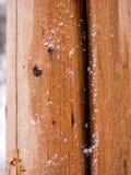 Pionowo zbliżenie śnieg Odkurzająca bela Fotografia Royalty Free