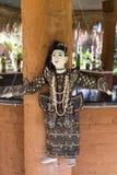 Pionowo zbliżenie dosyć tradycyjnego stylu birmańczyka sznurka kukła Zdjęcie Royalty Free