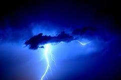 piorun, niebieski Fotografia Stock