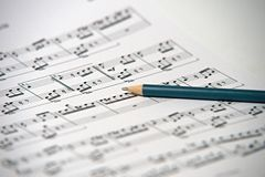 piosenka pisać Beethoven - Dla Elis Fotografia Stock