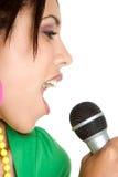 piosenkarką karaoke Zdjęcia Stock