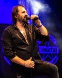 Piosenkarz żywy Limetal spełnianie zdjęcie stock