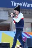 Piosenkarz Austin Mahone wykonuje przy Arthur Ashe dzieciaków dniem 2013 przy Billie Cajgowego królewiątka tenisa Krajowym centrum Zdjęcie Stock