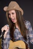 piosenkarz country western Zdjęcie Stock