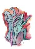 Piosenkarz i Gitarzysta ilustracji