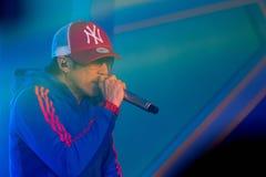 Piosenkarz J Jetrin na scenie 06 2014 przy Pataya Tajlandia Zdjęcie Stock