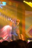 Piosenkarz J Jetrin na scenie 06 2014 przy Pataya Tajlandia Zdjęcia Royalty Free