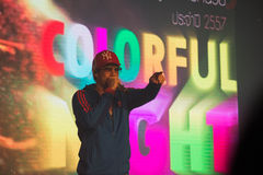 Piosenkarz J Jetrin na scenie 06 2014 przy Pataya Tajlandia Zdjęcie Royalty Free