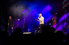 Piosenkarz Omer Adam wykonuje Zdjęcie Stock