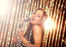 piosenkarz scena zdjęcie stock