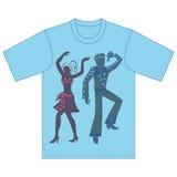 Piosenkarz, tancerzy występy ilustracja wektor