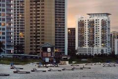 Piosenkarz wyspy miasta plaża Obrazy Royalty Free