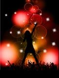 Piosenkarza żeński spełnianie Zdjęcie Royalty Free