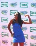 Piosenkarza Coco Jones uczęszcza Arthur Ashe dzieciaków dzień 2013 przy Billie Cajgowego królewiątka tenisa Krajowym centrum fotografia royalty free