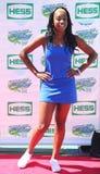 Piosenkarza Coco Jones uczęszcza Arthur Ashe dzieciaków dzień 2013 przy Billie Cajgowego królewiątka tenisa Krajowym centrum obrazy royalty free