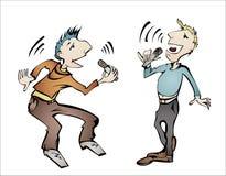 piosenkarzi dwa Ilustracja Wektor