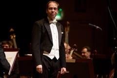 Piotr Borkowski, conductor. Stock Photography