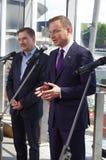 Piotr Duda和Andrzej Duda,共和国的总统办公室的候选人波兰 免版税图库摄影