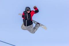 Piotr Janosz, snowboarder polaco Foto de archivo