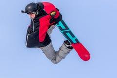 Piotr Janosz, snowboarder polonês Fotografia de Stock Royalty Free
