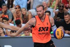 Piotr Renkiel - basquetebol 3x3 Imagens de Stock
