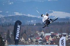 Piotr Wojarski, польский лыжник Стоковое Изображение