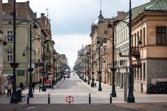 Piotrkowska Lodz Royaltyfri Fotografi