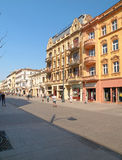 Piotrkowska Street. Royalty Free Stock Image