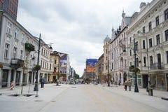 Piotrkowska Street in Lodz Royalty Free Stock Image