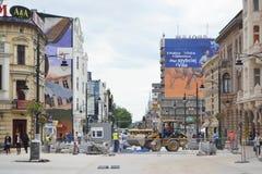 Piotrkowska Street in Lodz Stock Photo