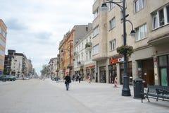 Piotrkowska Street in Lodz Stock Photography