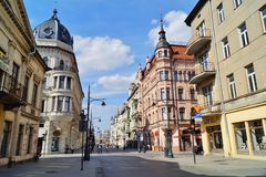 Piotrkowska Street ,Lodz,Poland Royalty Free Stock Photo