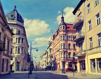Piotrkowska Street ,Lodz,Poland Stock Photography
