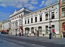 Piotrkowska Street ,Lodz,Poland Royalty Free Stock Photography