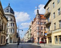 Piotrkowska Street ,Lodz,Poland Stock Photo