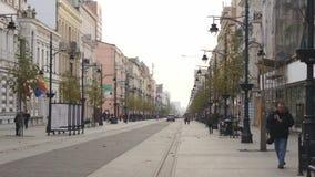 Piotrkowska ulica w Łódzkim, Polska zbiory