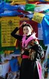 Pious tibet prayer in jokhang temple Royalty Free Stock Photos