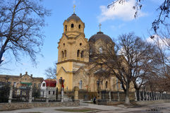 Piously-Ilinsky church. Old Greek orthodox church in the afternoon Royalty Free Stock Images