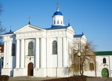 Piously-Uspensky Church, Zhirovichy, Belarus. Piously-Uspensky Orthodox Church in  Zhirovichy, Hrodno distr., Belarus, was completed in the 1671. In the village Stock Images