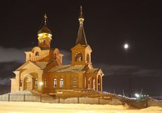 Piously-Vvedensky church, Dudinka. Russian Orthodox Church, the Moscow patriarchy, Krasnoyarsk diocese, Piously-Vvedensky church, Dudinka, Tajmyr, Krasnoyarsk Stock Image