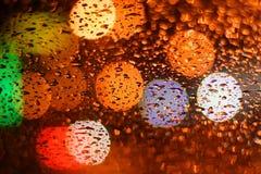 Piova gocciolato su vetro Fotografia Stock Libera da Diritti
