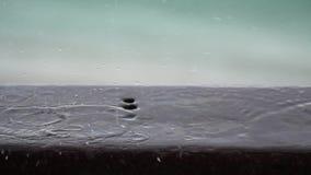 Piova le gocce stock footage