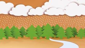 Piovendo nella foresta Immagine Stock Libera da Diritti