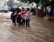 Piovosità pesante a Bhopal immagini stock